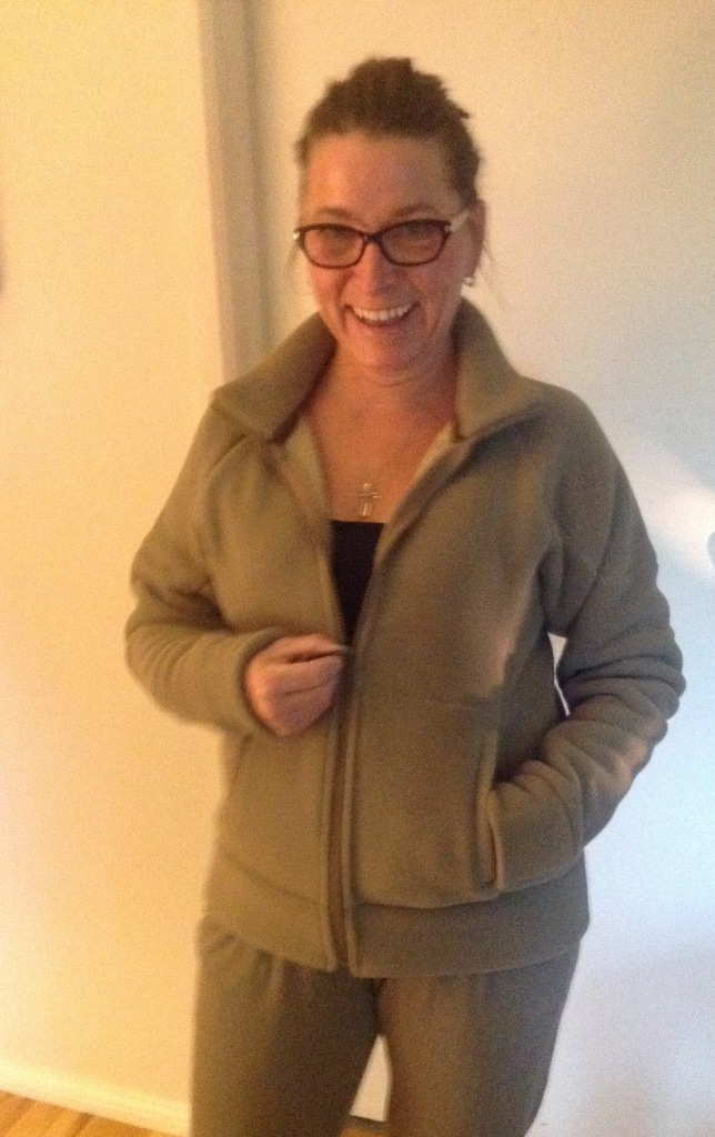 Jalie 2795 A hoodie without a hood in Polartec Classic 300 Super warm!